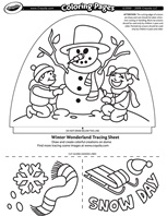 Winter Wonderland coloring page