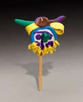 Clown on a Stick craft