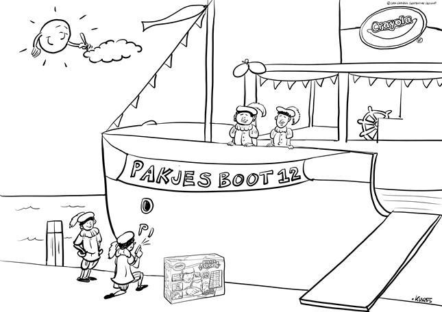 Kleurplaten Sinterklaas Stoomboot.Sinterklaas 4 Crayola Be