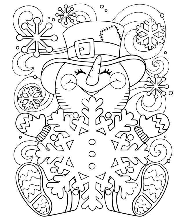 Kleurplaat Een Vrolijke Sneeuwpop Crayola Be